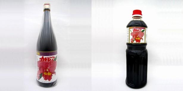 【写真を見る】「カトレア醤油」(写真左から1.8ℓ1577円、1ℓ972円)。別府市民に愛される甘めのかけ醤油だ