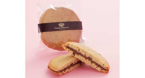高級チョコとビスケットのコラボ 「マルコリーニビスキュイ」(2310円・4個)は、東京駅グランスタ内の「ピエールマルコリーニ」でゲット