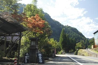 大山川と周辺の山々が織りなす渓谷が美しい大山町に佇む温泉宿