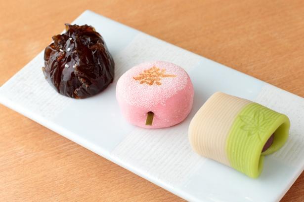 見た目もかわいい「季節の生菓子」