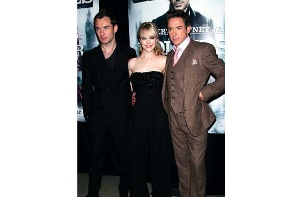 12月17日にNYで行われた『シャーロック・ホームズ』プレミアにて