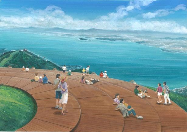 標高1174mの蓬莱山頂に「CAFE360」が8月上旬にオープン/びわ湖テラス