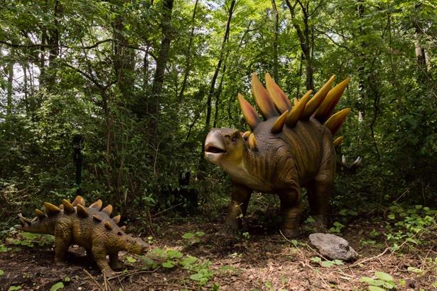 「富士ジュラシックウェイ」には動く恐竜模型がいっぱい!