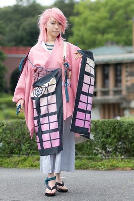 「刀剣乱舞」の宗三左文字に扮した若宮さん