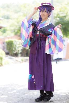 「ラブライブ!スクールアイドルフェスティバル」の東條希に扮したミシンさん