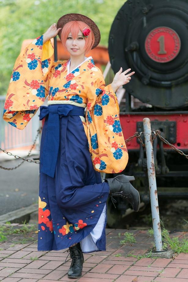 「ラブライブ!スクールアイドルフェスティバル」の星空凛(大正ロマンVer.)に扮した米々さん