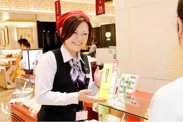 「博多ぽてと」と他の人気お菓子の詰め合わせも販売。詳しくはスタッフまで
