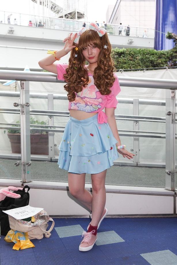 「アイドルマスター シンデレラガールズ」のきらりに扮したナナさん