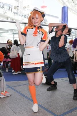 「ラブライブ!」の高坂穂乃果に扮した京さん
