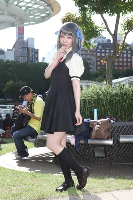 「AIR」の遠野美凪に扮したぼたんさん
