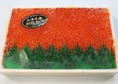 4〜5人分の「甘塩 イクラ」 (参考値札価格:2000円→1000円)