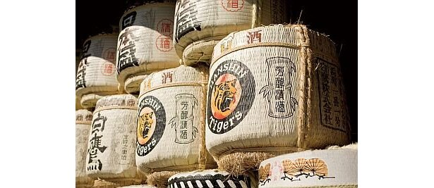 「廣田神社」には、タイガースロゴの入った酒樽が毎年奉納される。キャンプ終了後の2月下旬から3月上旬、監督・コーチ・全選手が必勝祈願に訪れる