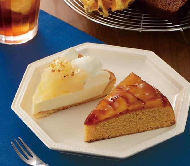 林檎と洋梨が十分に楽しめるケーキが新メニューとして登場