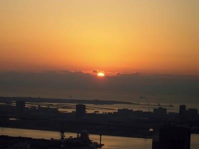 東京では今年もきれいな初日の出が見えました