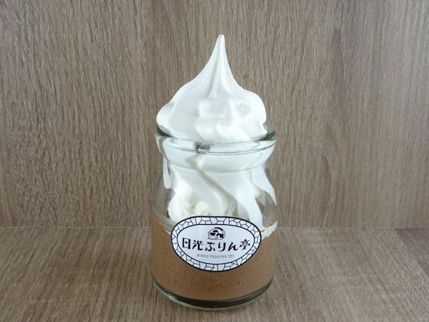 「SLぷりん(ソフトクリーム入りチョコレートプリン)」(380円)