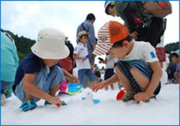六甲山 真夏の雪まつり「宝さがしゲーム」