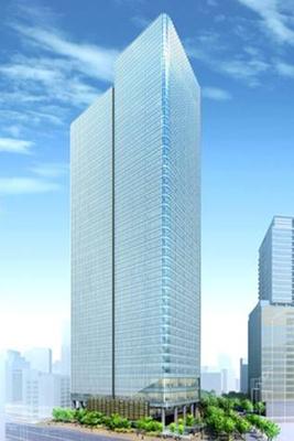 【写真を見る】六本木通り沿いのタワー棟、高さ約200m