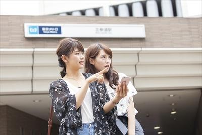 コースのスタート地点は北参道駅。アプリの地図をもとに出発♪