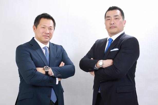 8月29日(火)に愛知で野球教室を行う山本昌(左)と山崎武司(右)