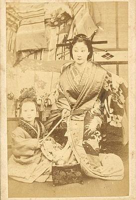 内田九一が撮影した「花魁 今紫」