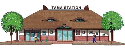 これが新駅舎!ネコ型の屋根が超ユニーク!!