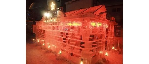 【写真】幻想的!氷で作られたバーも登場