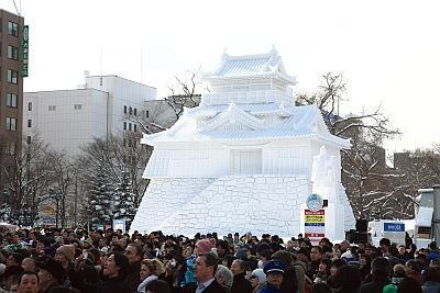 約1.5kmにも及ぶ大通会場に作られた、精巧な大雪像群は見ごたえたっぷり/第61回さっぽろ雪まつり
