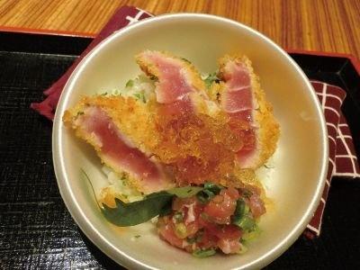 和歌山の「鮪中とろカツ丼」生マグロ水揚げ日本一を誇る紀州勝浦の逸品!