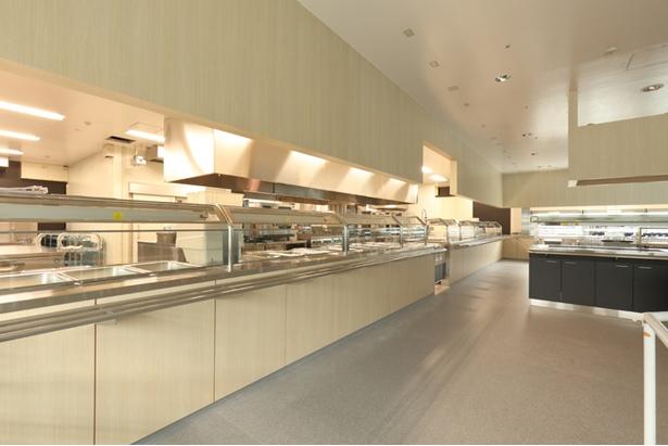 レストランの配膳スペース。ここにスウェーデン料理が並ぶ
