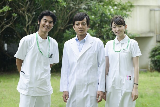 ドクターY~外科医・加地秀樹~新シリーズに出演する堀井新太、勝村政信、飯豊まりえ(写真左から)