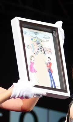 今回描いてくれたイラストは、モヤイ像バージョンと、くいだおれ太郎バージョンの2枚