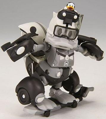 モノクロームバージョンのロボットモード