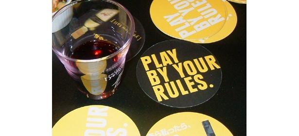 「PLAY BY YOUR RULES(=自分のルールで楽しむ)」というコンセプト。飲み方もいろいろ