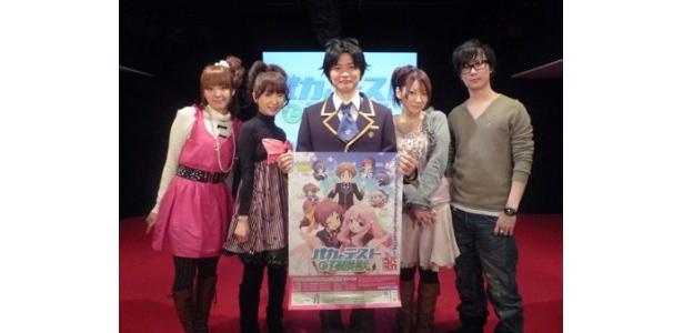 イベントに登場した加藤英美里、水橋かおり、下野紘、原田ひとみ、鈴木達央(写真左から)
