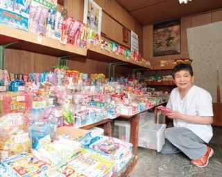 10円で買える駄菓子がたくさんそろう「大野屋」
