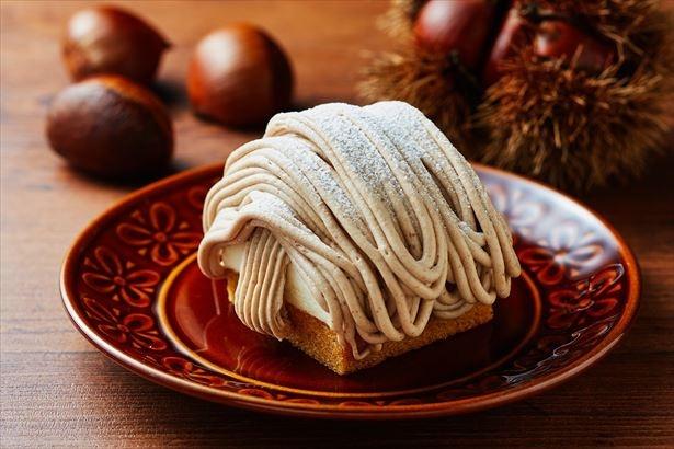 9月19日(火)発売「スペイン栗のモンブラン」スペイン産栗の風味豊かなマロンクリームを堪能。