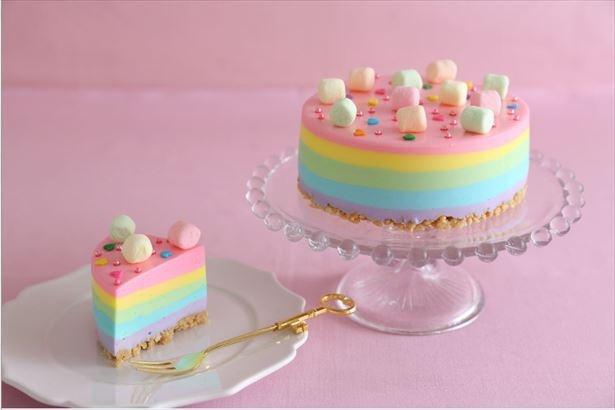 限定メニュー「レインボーチーズケーキ」