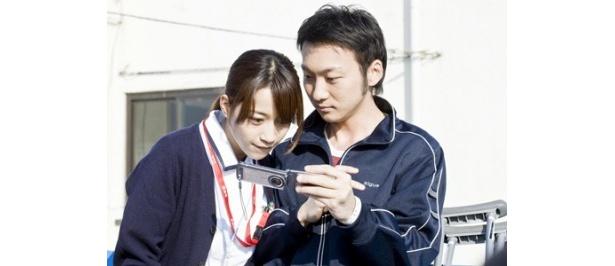 田中(波岡一喜)と看護士(さくら)がドキドキの急接近!?