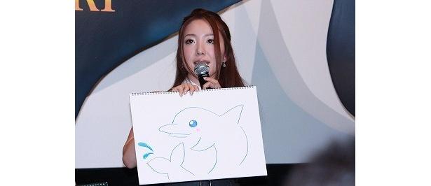 平原綾香は、海の動物に生まれ変わるなら「イルカ」になりたいとか。イラストがかわいい