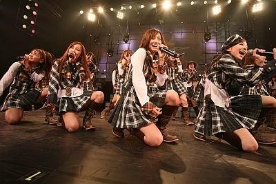 AKB48のコンサートの様子