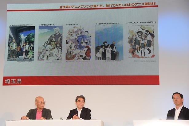 地方ごとに代表的なアニメが紹介された