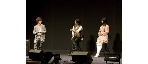 トークコーナーでは櫻井孝宏、福山潤、ゆかならが個性豊かな回答で客席の笑いを誘った