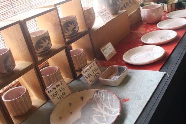 きんぎょ茶屋/「仙太郎窯」の陶器も販売