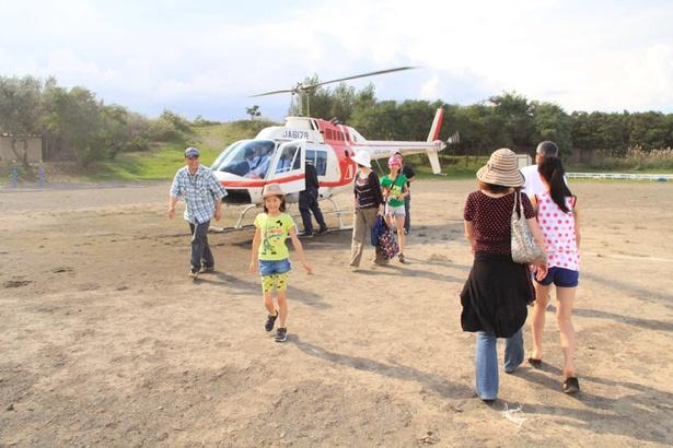 石狩さけまつり/石狩川上空を飛ぶ、「ヘリコプター遊覧体験」