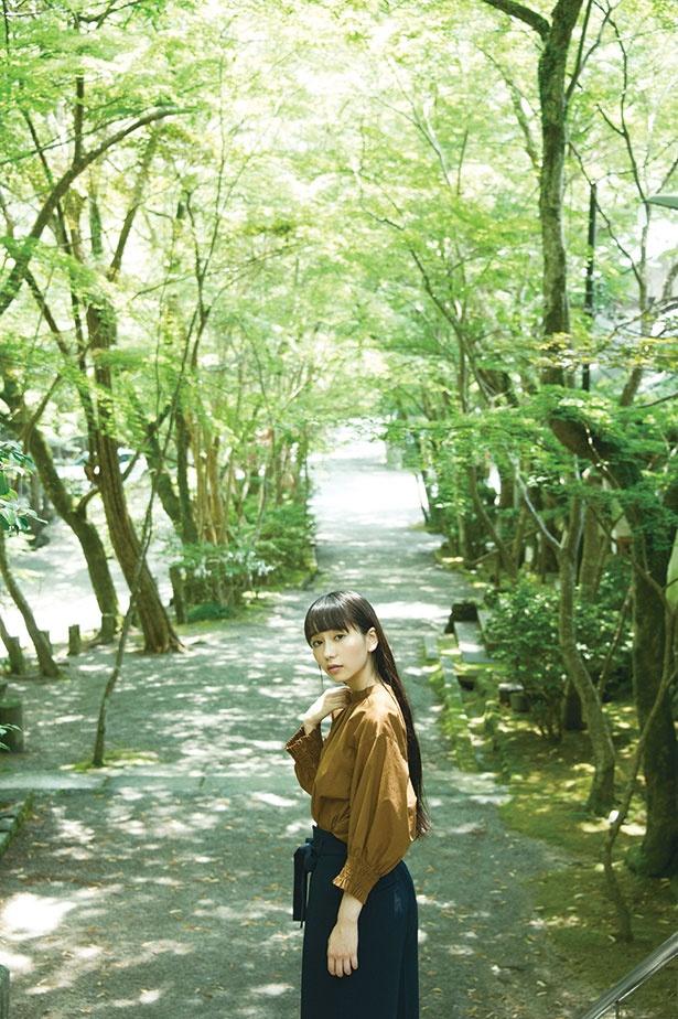 夏は新緑、秋は紅葉の名所としても知られる神峯山寺の参道。木々が美しく色づく11月中頃、オープンたかつきの一環として、写経と座禅の集いが開催される