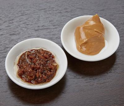ピーナッツバターと甜麺醤(てんめんじゃん)でピリ辛に仕上げた自家製の肉味噌を使用/中華ダイニング ザイロン