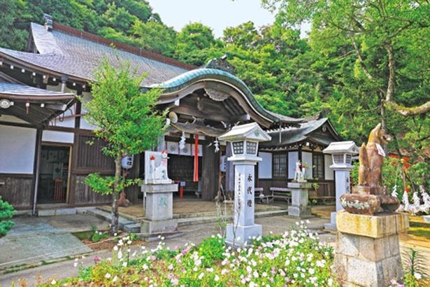 本殿には2柱が祀られている/高取神社