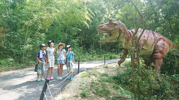 【写真を見る】ティラノサウルスなど、全21体の恐竜に出合える「ディノアドベンチャー名古屋」