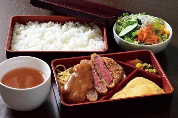 「ビーフカツとオムレツ」(1800円)/洋風料理 ニシモト