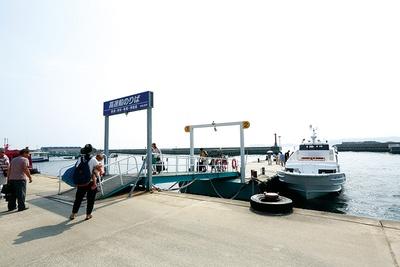 日間賀島西港の乗船所